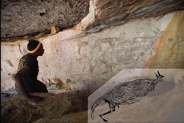 Dünyanın en eski gerçek boyutlu kanguru resmi_Avustralya-min