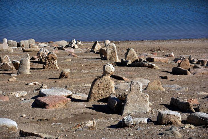Kayseri Yamula Barajı altında kalan mezarlık