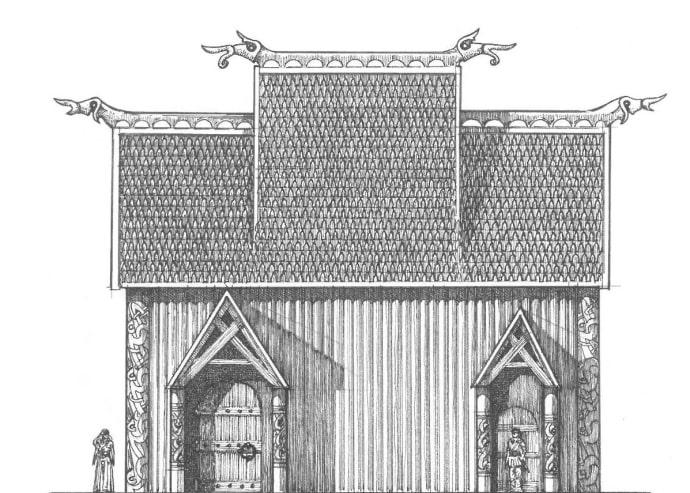 Uppåkra'daki kült evinin yeniden inşası
