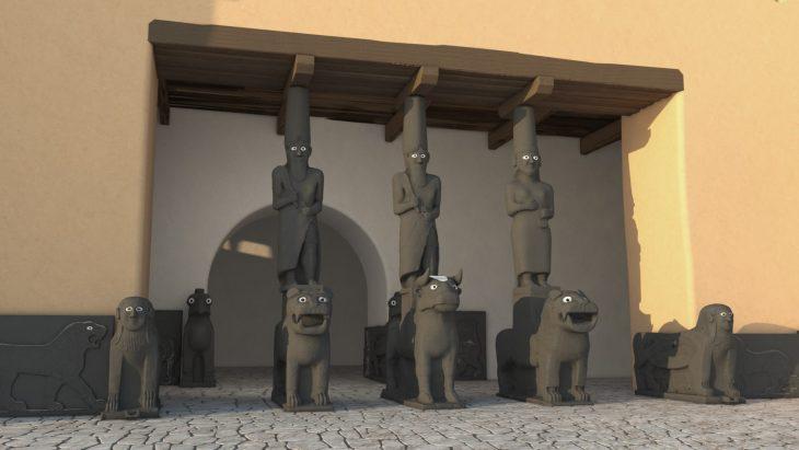 kapara sarayı bit-hilani giriş sütunları