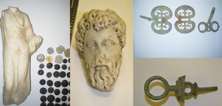macaristan gümrüğünde yakalanan eserler