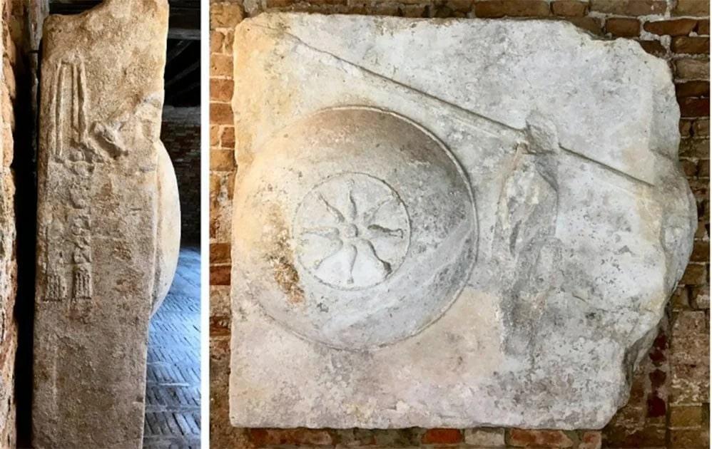 Aziz-Mark_ın-Bazilika-mahzeninde-bulunan-cesedinin-yakınında-bulunan-Makedon-mezar-bloğu