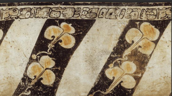 Maya vazosu üzerinde hiyeroglif