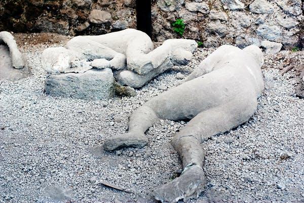 Pompeii volkan patlaması kurbanları