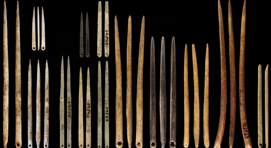 Tarih öncesi dönemlere ait iğne örnekleri
