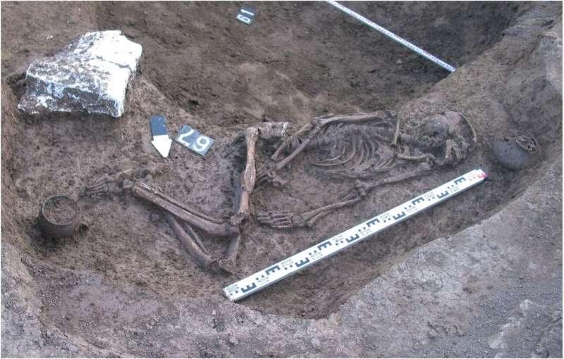 kuzey kafkasyada bulunmuş erkek iskeleti