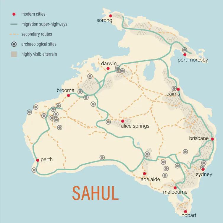 Aborjinlerin-göç-yollarını-gösteren-harita