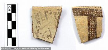 Geç Bronz Çağı alfabetik yazıt içeren çanak çömlek parçası