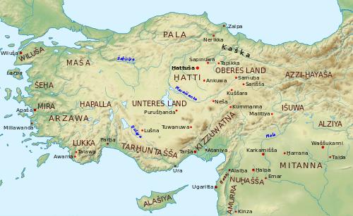 M.Ö. 1500 yılarında Hitit dönemi Batı Anadolu krallıkları