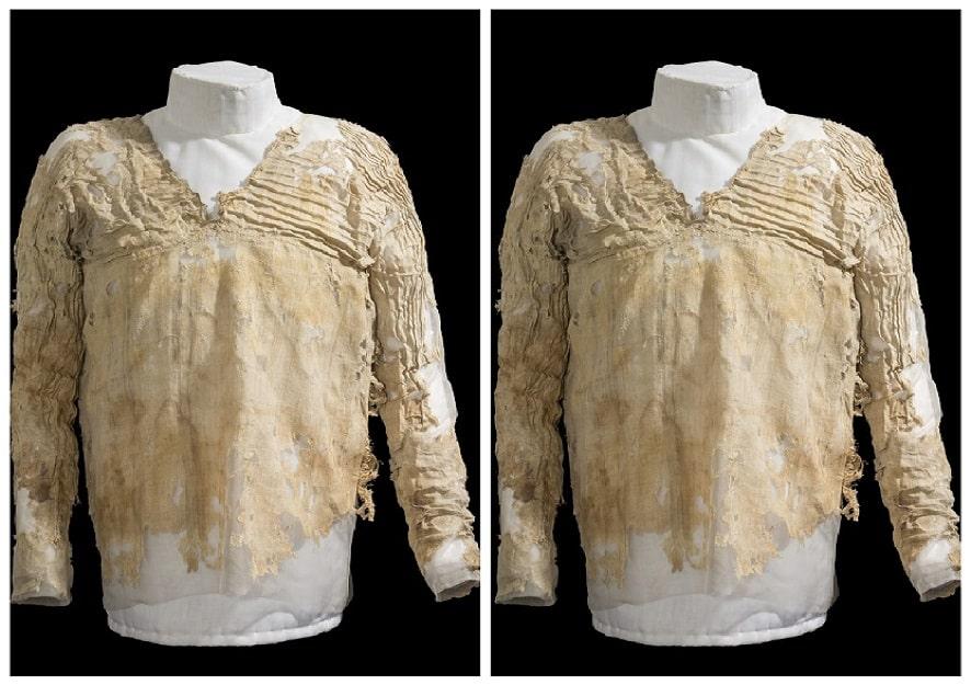 """Mısır'da bulunan dünyanın en eski elbisesi """"Tarkhan Elbisesi"""""""