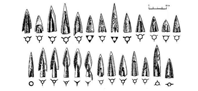 İskitler dönemi savaş ok uçları