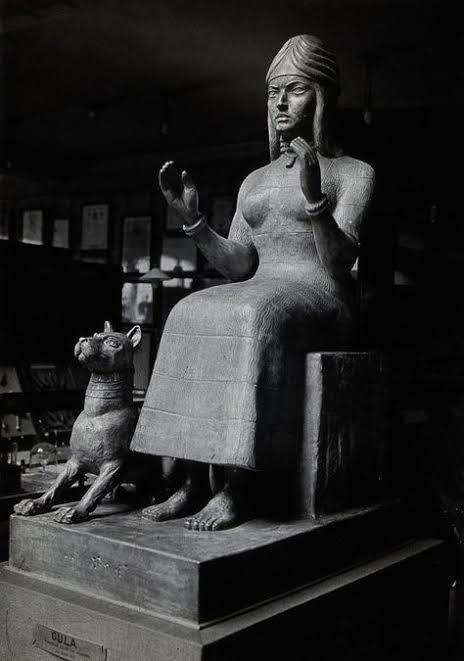 Tanrıça Gula ve köpeği