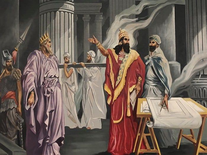 Tevratta geçen Hz Süleymanın tapınağını yapan Kral Hiram (Usta Hiram, Hiram Abi)