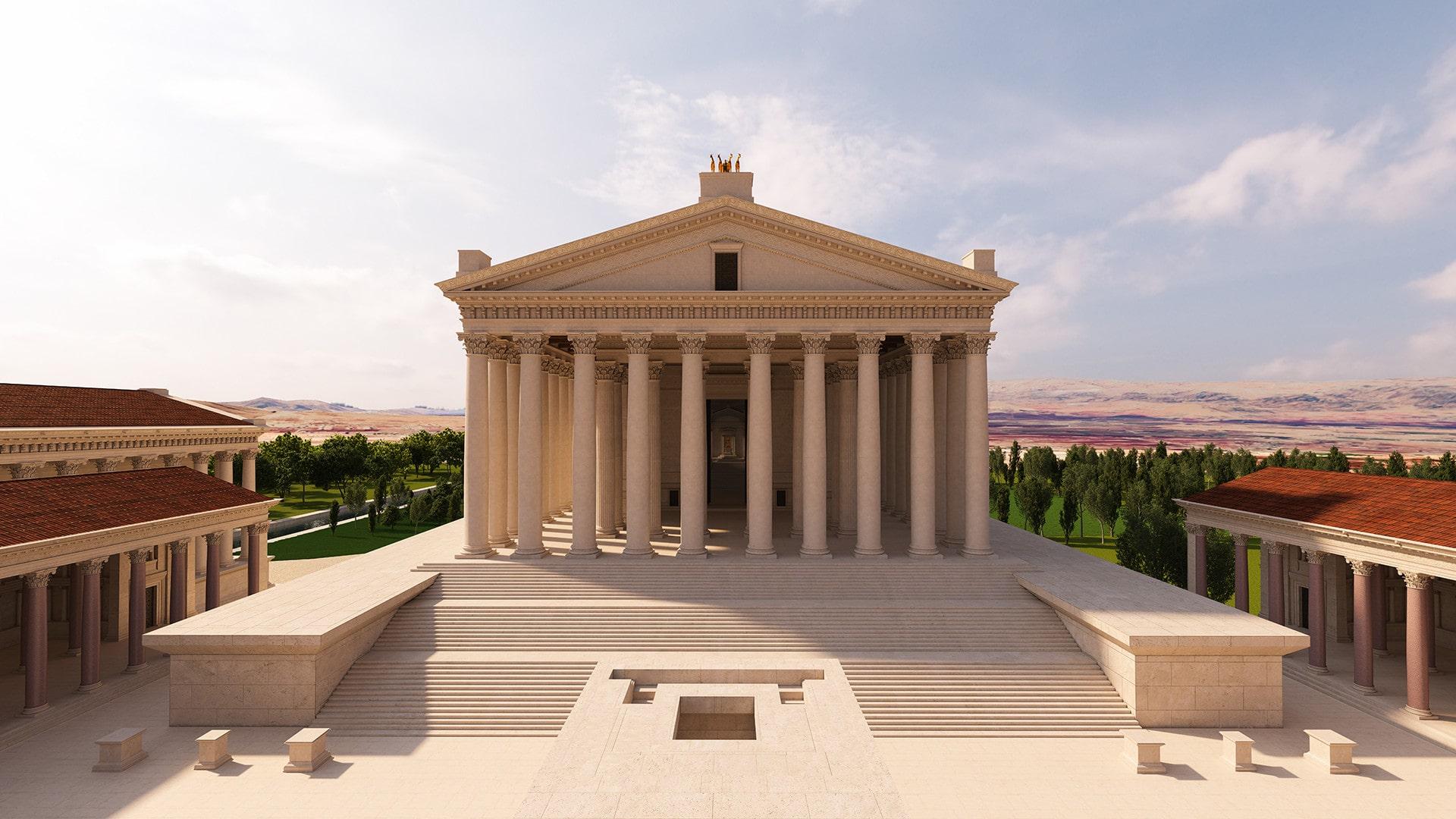 Baalbek tapınaklarının 3d modellemesi.