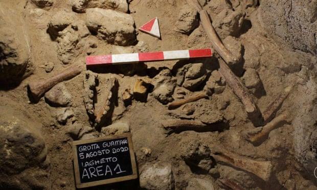 Guattari Mağarası'nda dokuz Neandertalin fosilleşmiş kalıntılar
