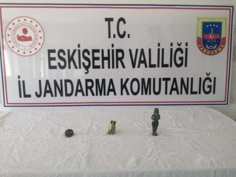 Eskişehir İl Jandarma Komutanlığı ekipleri Roma Dönemi Eserler Ele Geçirdi
