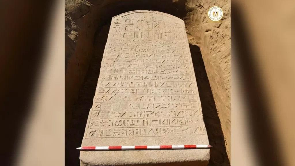 Mısır'da Firavun Apries dönemine ait stel