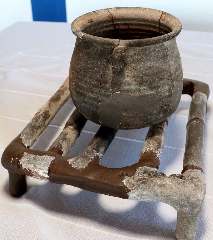 1650 yıllık toprak Izgara Assos kazıları Fotoğraf DHA