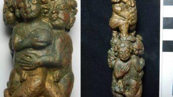 Aslanlı infaz yönteminin uygulandığına dair kanıt olan anahtarlık Fotoğraf Leicester Üniversitesi Arkeolojik Hizmetler