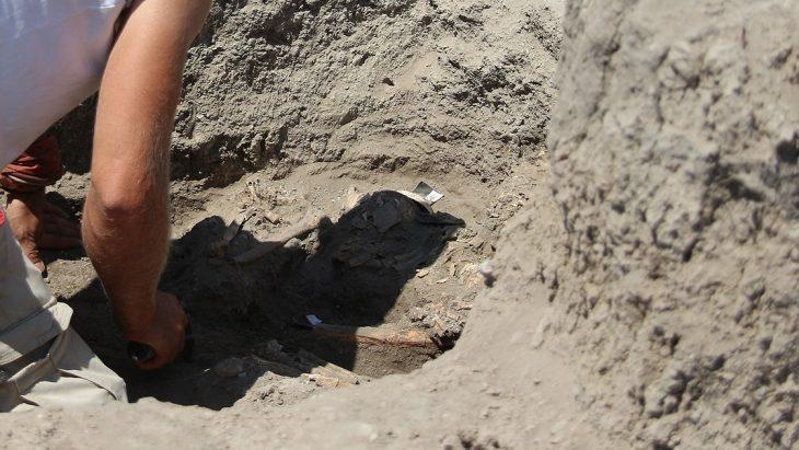 Çatalhöyük'te çoklu mezar bulundu