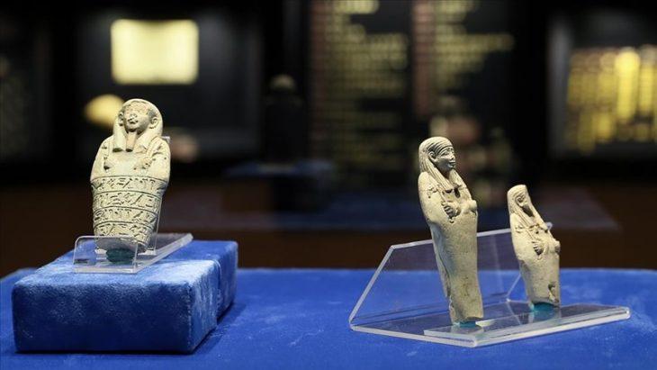 Mısır'ın 'Uşabti' heykelcikleri İzmir Arkeoloji Müzesi'nde sergileniyor