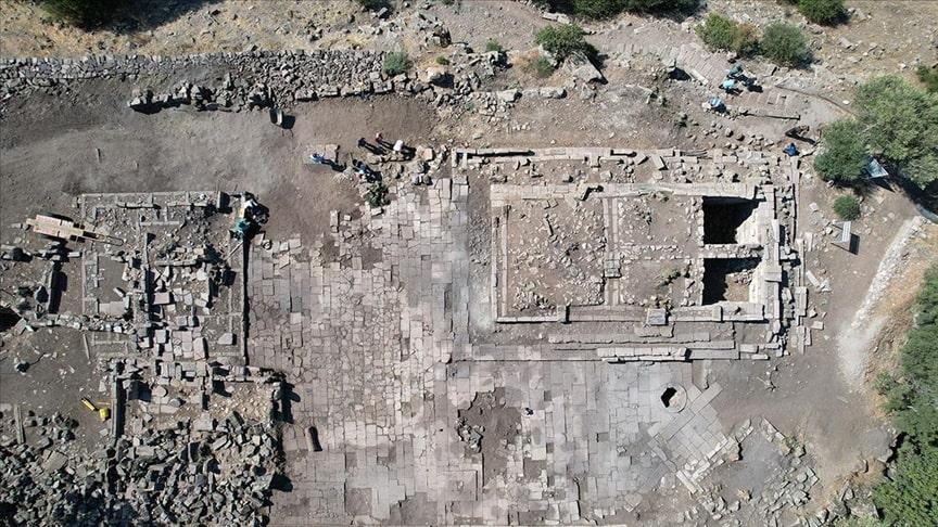 Aigai Antik Kenti'nde Athena Tapınağı temelleri ortaya çıkarıldı Fotoğraf Ahmet Bayram/AA