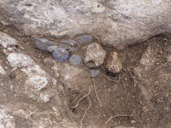 İsrail'in Modiin-Maccabim-Reut kentinde Hasmona döneminden kalma bir gümüş sikke yığını