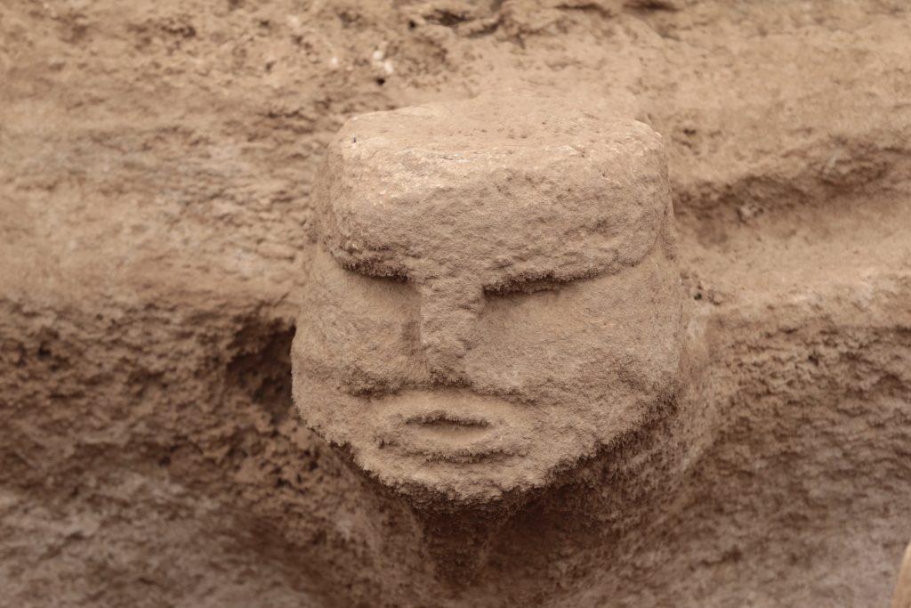 Karahantepe'de bulunan insan yüzlü buluntu