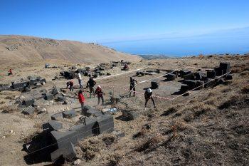 Urartu Kralı II. Rusa tarafından yaptırılan sarayın kazı çalışmaları Fotoğraf AA