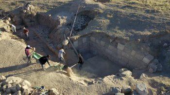 Zernaki Tepe sur duvarları kırlangıç sistemi ile güçlendirilmiş